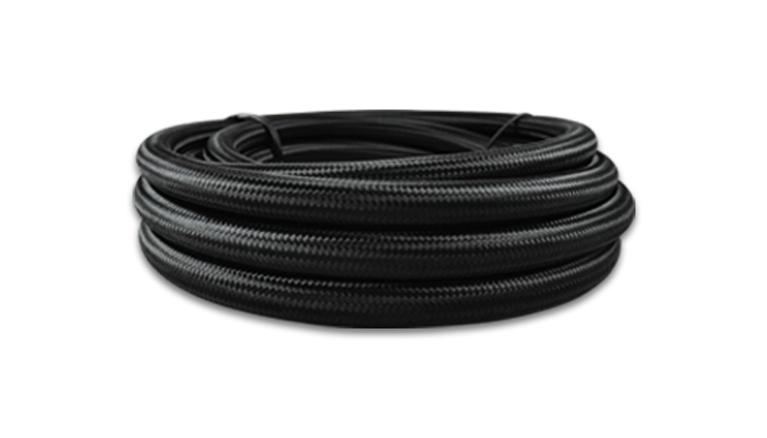 -10 AN Black Nylon Braided Flex Hose (2 foot roll)