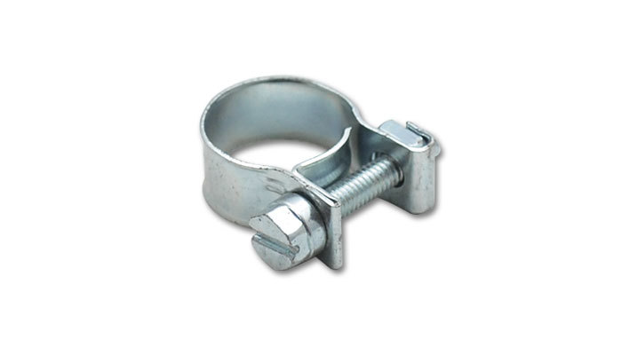Inj Style Mini Hose Clamps 11-13mm clamping range Pack of 2 Zinc Plated Mild Steel