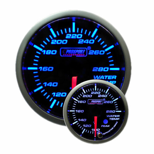 52mm Electrical 'Premium' Water Temperature Gauge - Blue/White (Fahrenheit)