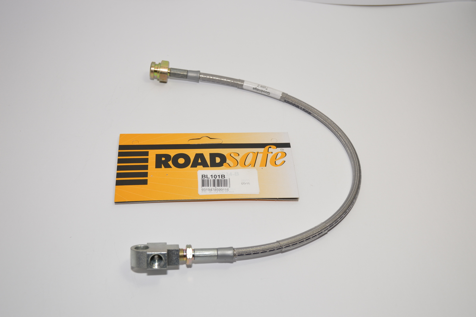 Braided Extended Brake Line - Front (Patrol GQ 3-4in Lift)
