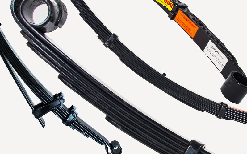 2x Front Leaf Lift Springs (Landcruiser 40/42 Series) Bar + Winch/35mm Eye