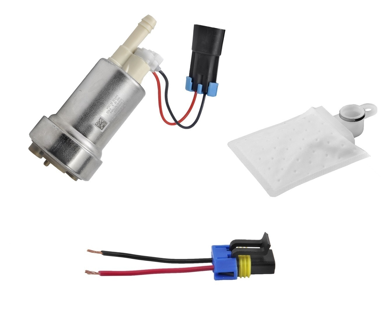 HP In-Tank Fuel Pump 460lph W/Fitting Kit (e85 Compatible)