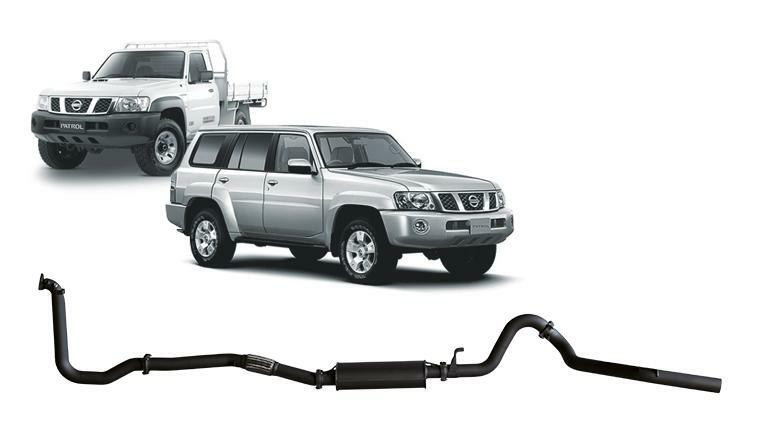 3in Dump Pipe Back Exhaust w/Large Muffler (Patrol GU 4.2L)
