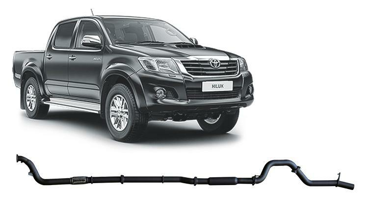 3in Turbo Back Exhaust No Cat w/Hot Dog (Hilux 05-15 3.0L)