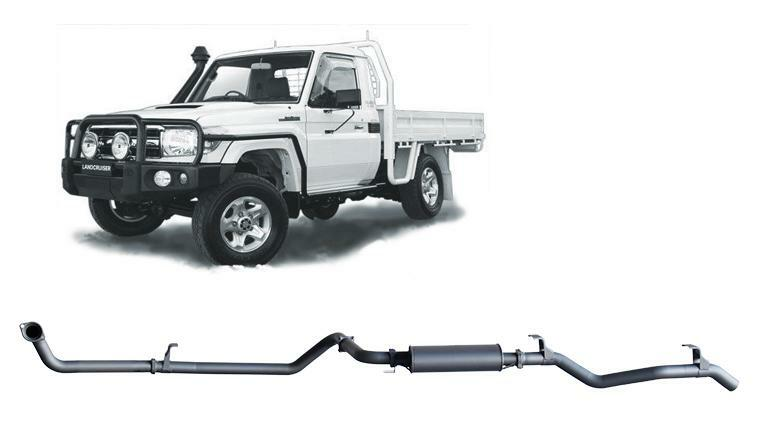 Extreme Duty 3in Dump Back No Cat w/Muffler (Landcruiser 79 Series 1HD)
