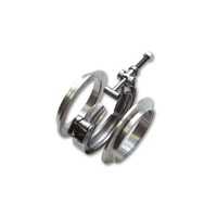 AL V-B Flange Assembly 3.5in OD Tubing incl 2 AL V-b flanges 1 SS V-B Clamp 1 Viton O-Ring