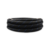 -10 AN Two-Tone Black/Blue Nylon Braided Flex Hose (10 foot roll)