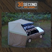 30 Second Wing Awning - Single Wall - Solid Canvas