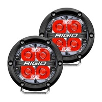 360-Series 4In LED Off-Road Fog Light Spot Beam - Red Backlight (Pair)