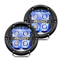 360-Series 4In LED Off-Road Fog Light Spot Beam - Blue Backlight (Pair)