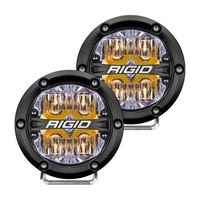 360-Series 4In LED Off-Road Fog Light Drive Beam - Amber Backlight (Pair)