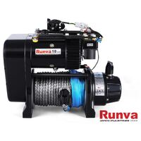 Premium Twin Motor 24V Winch w/Synthetic Rope