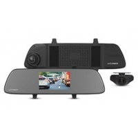"5.0"" Touch Screen DVR Mirror w/HD Front + Rear Cameras"
