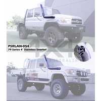 4in Stainless Snorkel - Satin Finish (Landcruiser 70 Series)