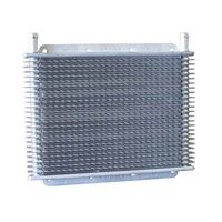 Transmission Oil Cooler 280x200x19mm (1/2in Barb) w/Temp Sensor